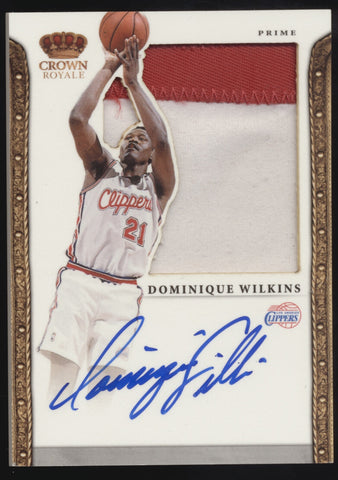2011-12 Preferred Crown Royale Dominique Wilkins Silhouettes Patch Auto /10