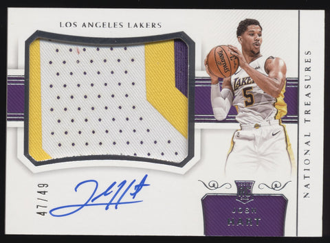 2017-18 National Treasures Josh Hart RPA Horizontal 3 Color Patch RC Auto /49