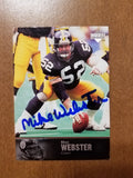 1997 UD Upper Deck Legends Mike Webster Steelers Auto Autograph SP