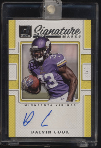 2017 Donruss Signature Series Dalvin Cook RC Rookie Auto Autograph /5