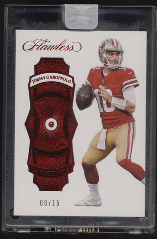 2017 Panini Flawless Jimmy Garoppolo Embedded Ruby Gem /15