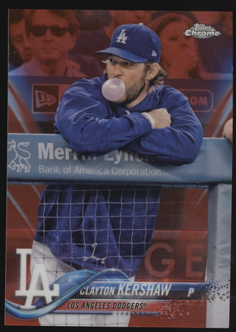 2018 Topps Chrome Clayton Kershaw Variation Red Refractor /5