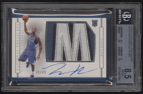 2016-17 National Treasures Kris Dunn Logo Letter Patch RC Auto Autograph /49