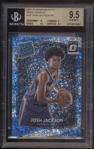 2017-18 Donruss Optic Josh Jackson Prizm White Sparkle SSP RC BGS 9.5