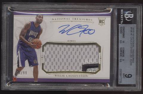 2015-16 National Treasures Willie Cauley-Stein RPA Patch RC Auto /99 BGS 9 10