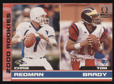 2000 Pacific Omega #238 Tom Brady Patriots Redman RC Rookie /500