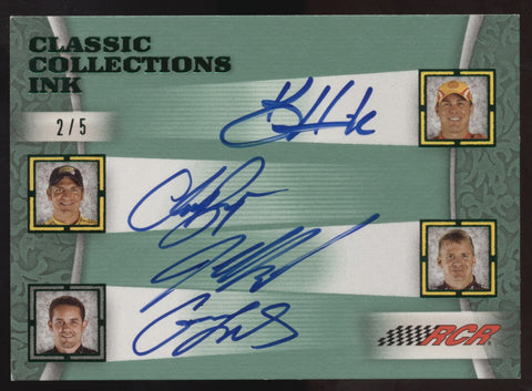 2009 Press Pass Casey Mears Jeff Burton Kevin Harvick Clint Bowyer Auto /5