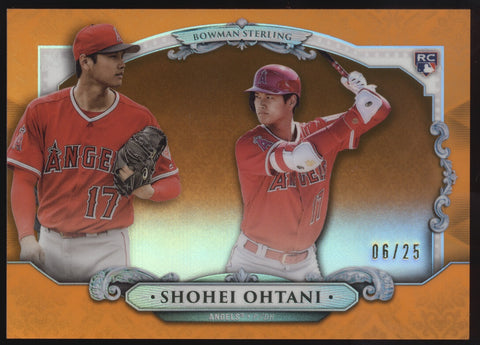 2018 Bowman Sterling Shohei Ohtani Orange Refractor RC Rookie /25