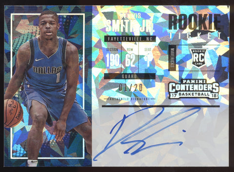 2017-18 Panini Contenders Dennis Smith Jr. Cracked Ice RC Auto /20 1/1