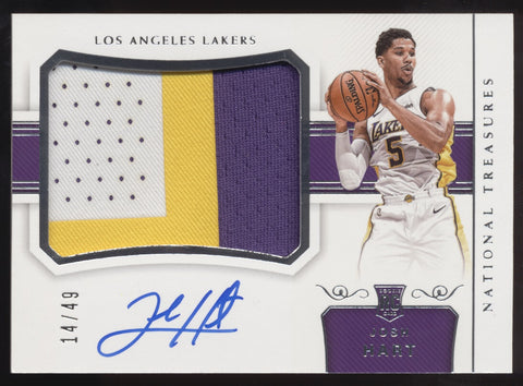 2017-18 National Treasures Josh Hart RPA 3 Color Patch RC Auto Autograph /49