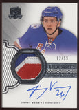 2016-17 UD The Cup Jimmy Vesey 3 Color Patch RC Auto Autograph /99