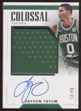 2017-18 National Treasures Jayson Tatum Colossal Jumbo Jersey Patch RC Auto /99