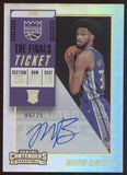 2018-19 Panini Contenders Marvin Bagley III The Finals Ticket RC Auto /25