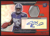 2010 Topps Platinum Dez Bryant Red Refractor Patch RC Auto Autograph /10