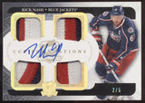2011-12 UD The Cup Rick Nash Foundations Quad Jersey Patch Auto /5