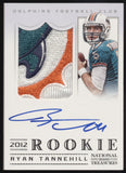 2012 National Treasures Ryan Tannehill Dolphins Logo Patch RC Auto /99