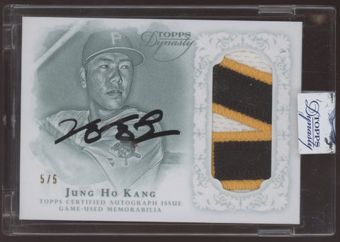 2015 Topps Dynasty Jung Ho Kang 3 Color Patch RC Auto Autograph /5