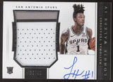 2018-19 National Treasures Lonnie Walker IV RPA 4 Color Patch RC Auto /49