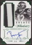 2014 Panini Flawless Ronnie Lott Greats Patch Emerald Auto Autograph /5