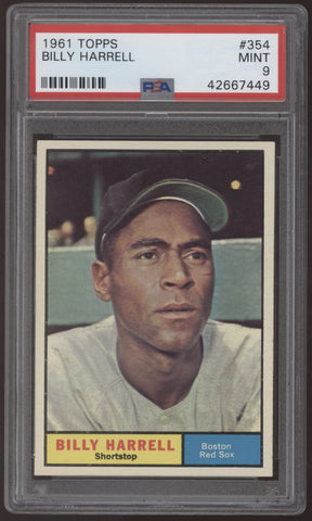 1961 Topps #354 Billy Harrell Red Sox PSA 9 Mint
