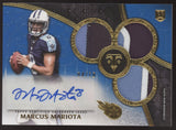 2015 Topps Triple Threads Marcus Mariota Sapphire Patch Relics RC Auto /10