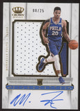 2017-18 Crown Royale Markelle Fultz Silhouettes 3 Color Patch RC Auto /25