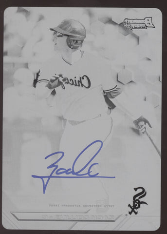 2016 Bowman's Best Zack Collins Black Printing Plate RC Auto True 1/1