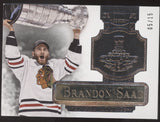 2013-14 Panini Dominion Brandon Saad Stanley Cup Engravatures Silver /15