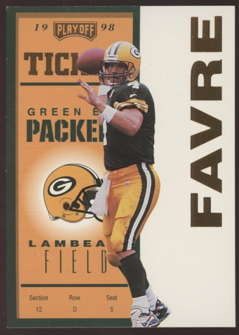 1998 Playoff Contenders #31 Brett Favre Packers Gold /25