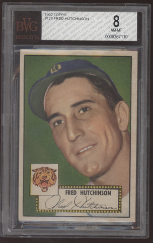 1962 Topps #5 Fred Hutchinson Tigers BVG 8 NM-MT