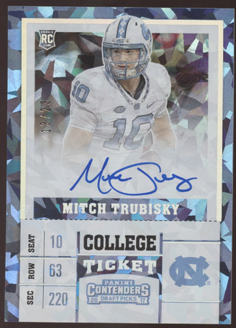 2017 Panini Contenders Mitch Trubisky Mitchell Cracked Ice RC Auto /23