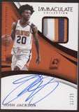 2017-18 Panini Immaculate Josh Jackson 3 Color Patch Red RC Auto /25