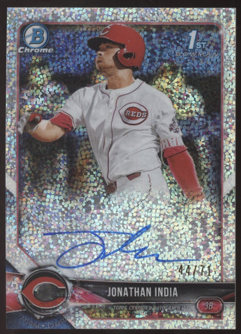 2018 Bowman Chrome Jonathan India Sparkles Refractor RC Auto /71