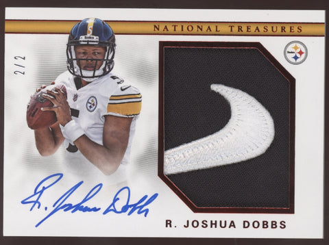 2017 Panini National Treasures R. Joshua Dobbs Nike Patch RC Auto /2