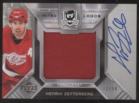2006-07 UD The Cup Henrik Zetterberg Limited Logos Jersey Patch Auto /50