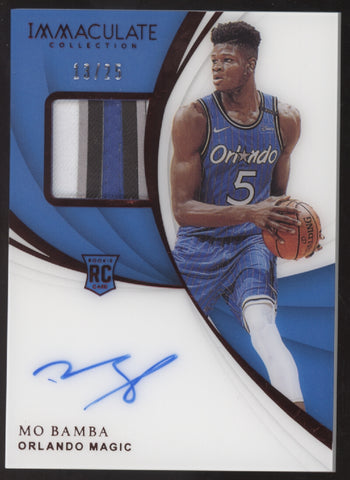 2018-19 Panini Immaculate Mo Bamba 4 Color Patch Red RC Auto /25