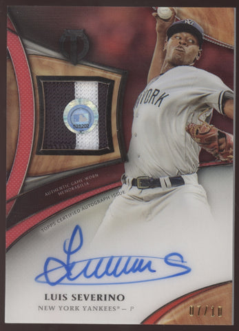 2018 Topps Tribute Luis Severino Patch Red Auto Autograph /10