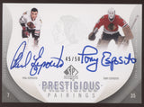 2010-11 SP Authentic Phil Esposito Tony Esposito Prestigious Dual Auto /50