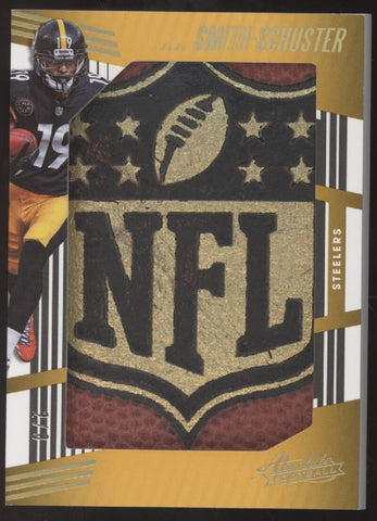 2018 Panini Absolute Juju Smith-Schuster Jumbo NFL Shield Ball Relic /8