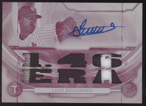 2019 Topps Triple Threads Luis Severino Patch Auto Autograph True 1/1