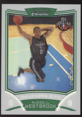 2008-09 Bowman Chrome #114 Russell Westbrook Refractor RC Auto /499