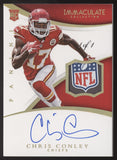 2015 Panini Immaculate Chris Conley NFL Shield Glove Patch RC Auto True 1/1