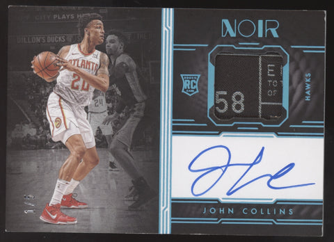 2017-18 Panini Noir John Collins Laundry Tag Patch RC Auto Autograph /5
