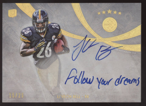 2013 Topps Five Star Le'Veon Bell Quotable Inscription RC Auto Autograph /25