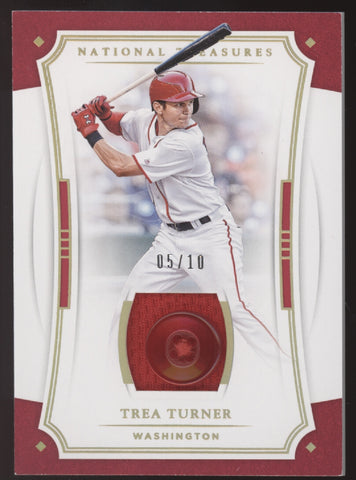 2017 National Treasures Trea Turner Game Used GU Button Patch /10