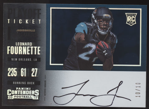 2017 Panini Contenders Leonard Fournette Playoff Ticket RC Auto /10