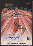 2018-19 Panini Absolute Troy Brown Jr. Limitless Black RC Auto True 1/1