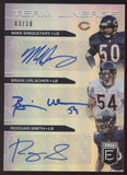 2019 Panini Elite Mike Singletary Brian Urlacher Roquan Smith Bears Auto /10