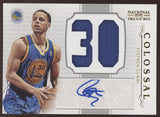 2012-13 National Treasures Stephen Curry Colossal Numbers Jersey Auto /49