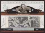 2007 National Treasures Alex Wojciechowicz All Decade Cut Auto Autograph /36